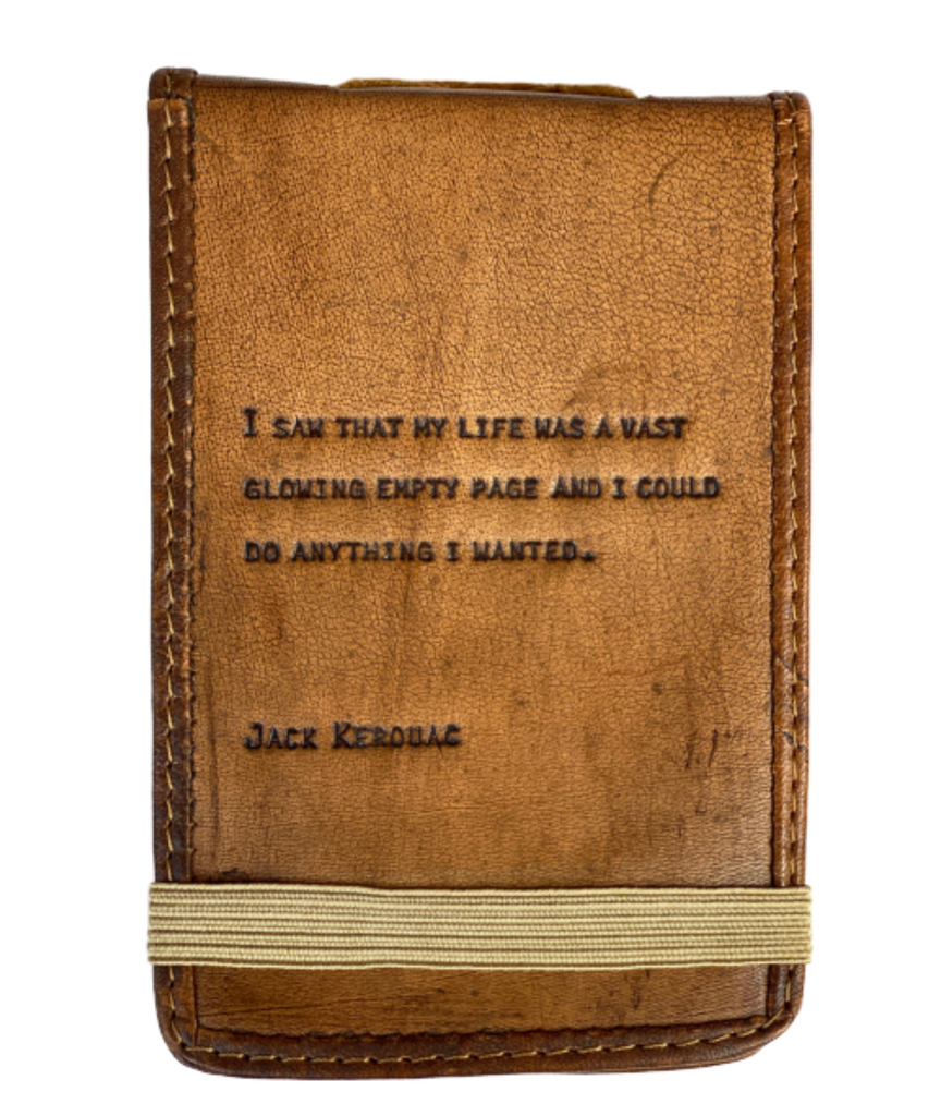 Leather Journal -- Jack Kerouac Quote