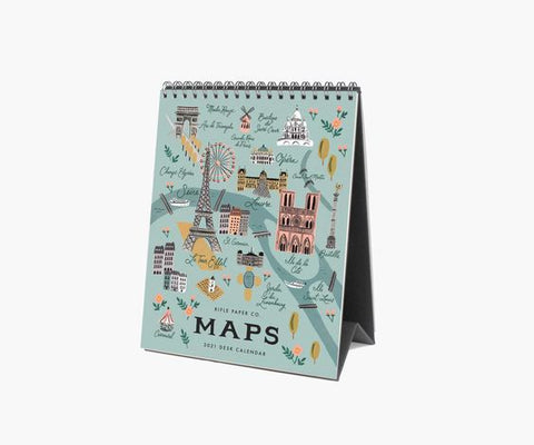 Rifle Maps 2021 Desk Calendar