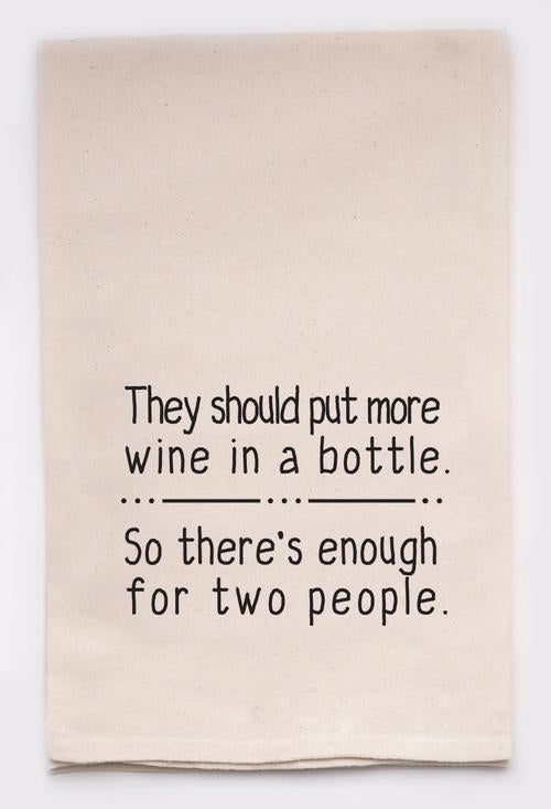 More Wine in a Bottle Tea Towel