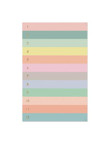 Rifle Numbered Colorblock Large Memo Notepad