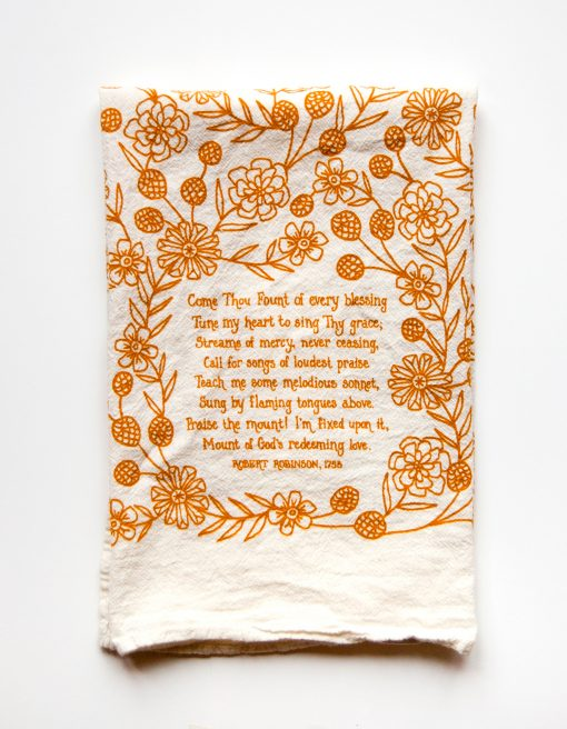 Come Thou Fount Tea Towel
