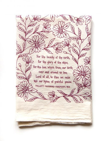 For the Beauty of the Earth Tea Towel