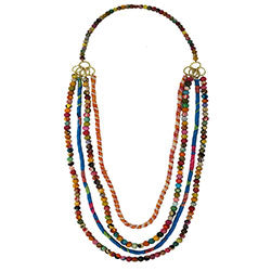 World Finds Dionysus Kantha Necklace