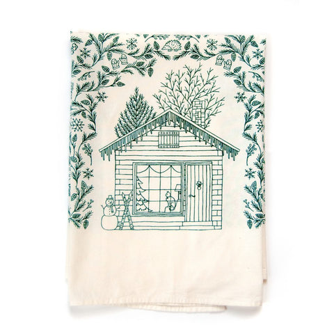 Four Seasons Tea Towel -- Winter