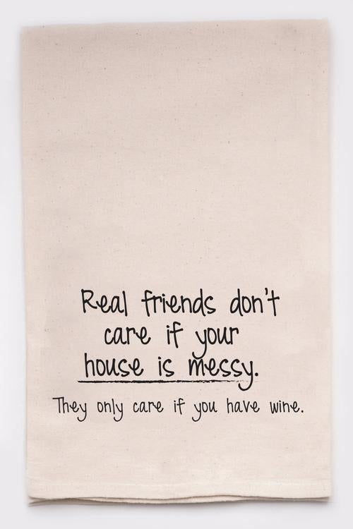 Real Friends Tea Towel