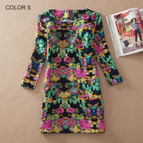 Colorful fashion dress