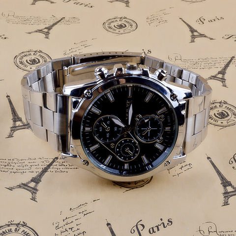 Men's Luxury Business Stainless Steel Watch