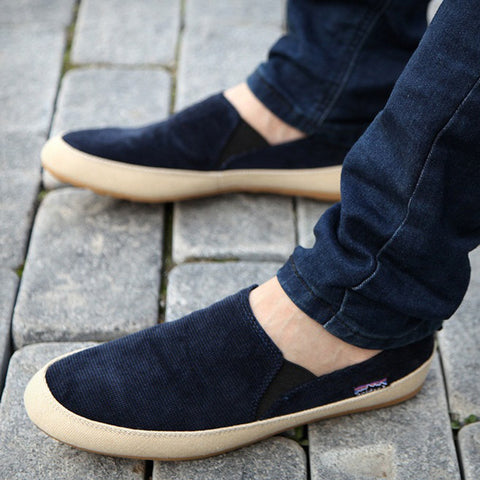 Men's Casual England Breathable Slip On Flats