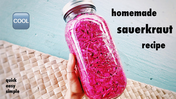 QUICK & EASY SAUERKRAUT RECIPE ▲ HOMEMADE MICROBIOME & GUT HEALING