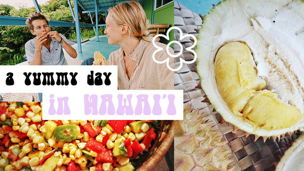 YUMMY DAY IN HAWAII VLOG △ FARMER'S MARKET, VEGAN MEXI POTLUCK, BEST DURIAN OF MY LIFE