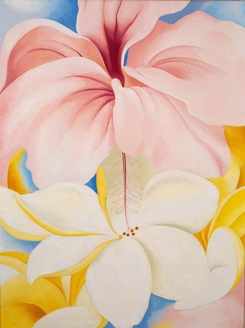 DON'T YOU REMEMBER? BY MEAGAN HENRY // ART BY GEORGIA O'KEEFE, HIBISCUS WITH PLUMERIA, 1939