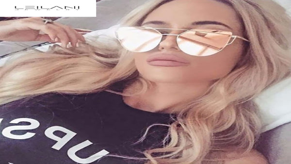 CAMILLA- Cat Eye Designer Mirrored Sunglasses