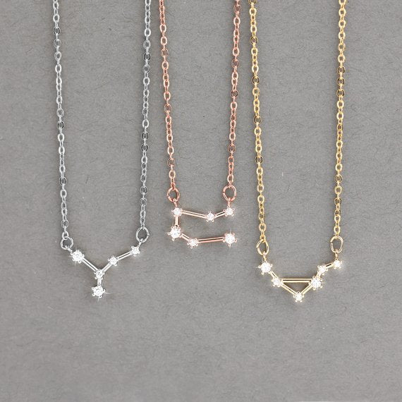 Zodiac Sign Horoscope Necklace