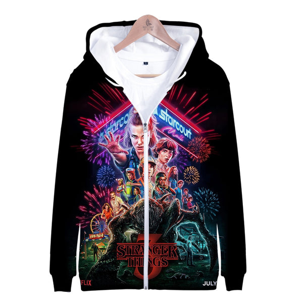 2019 Stranger Things Limited Edition Season 3 Zip Up Hoody