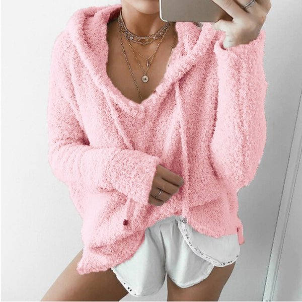 Fuzzy Sherpa- Plush Pullover Hoodie