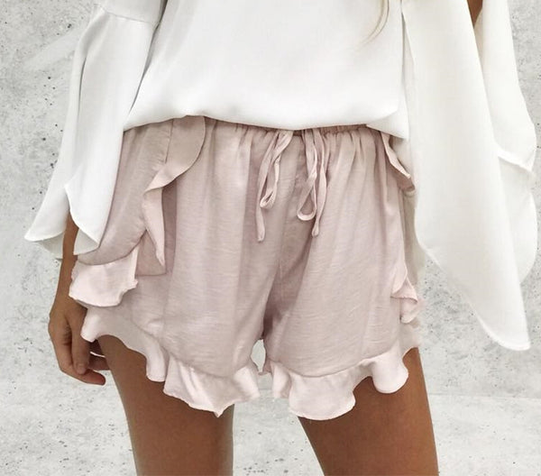 2019- Woman's Ruffled High Waisted Shorts