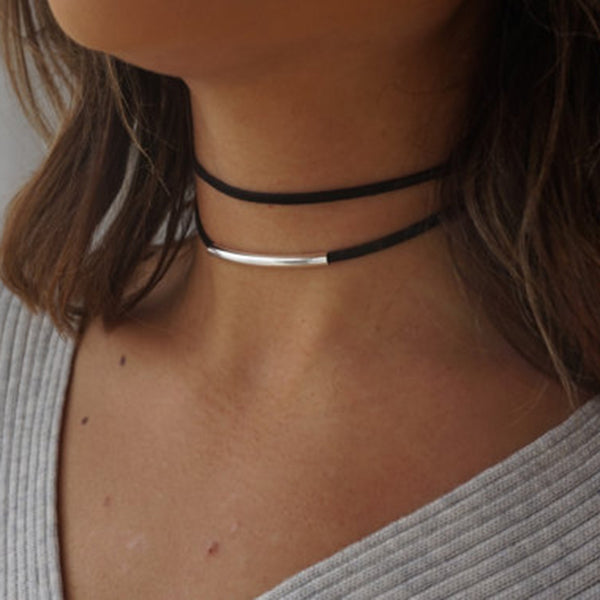 Black Double Wrapped Choker