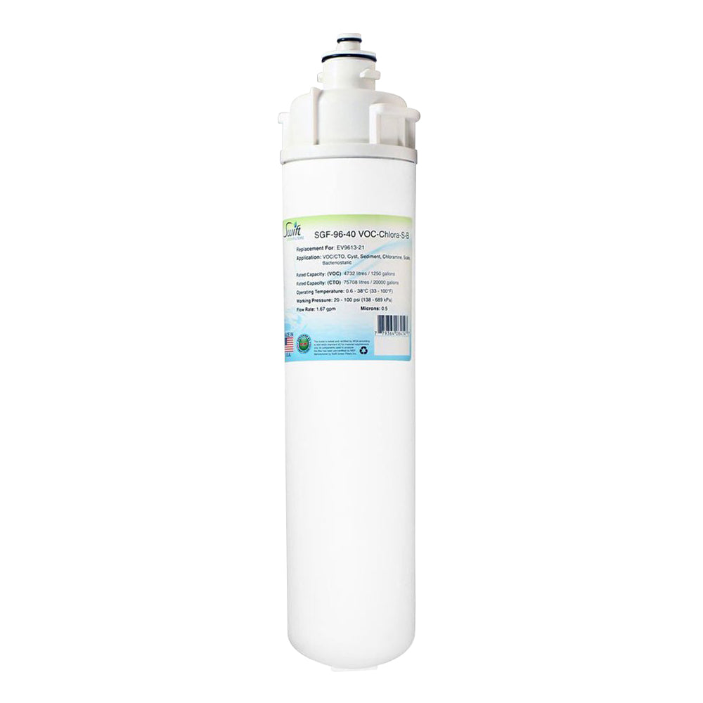 Everpure EV9613-21,EV9613-26,EV9613-21 Filter Replacement SGF-96-40 VOC-Chlora-S-B by Swift Green Filters