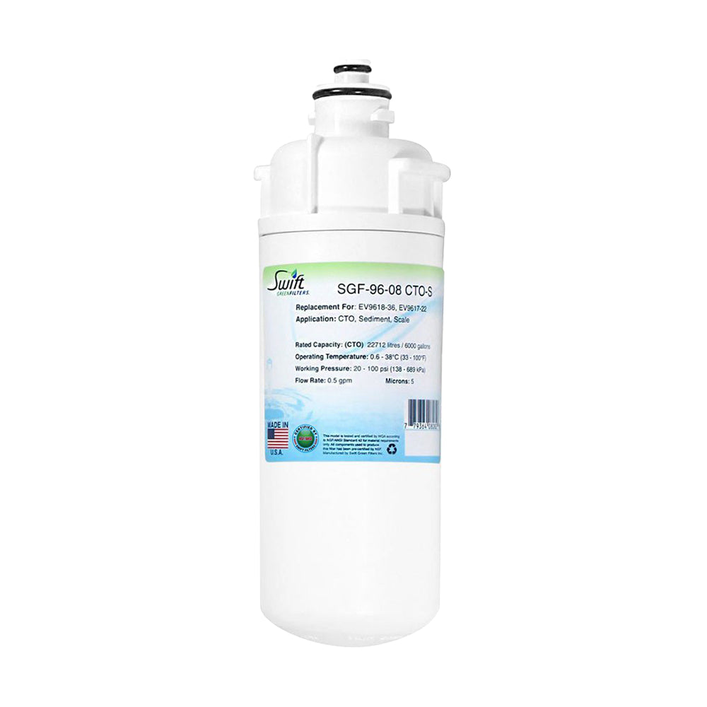 Everpure EV9618-36, EV9617-22 Filter Replacement SGF-96-08 CTO-S by Swift Green Filters
