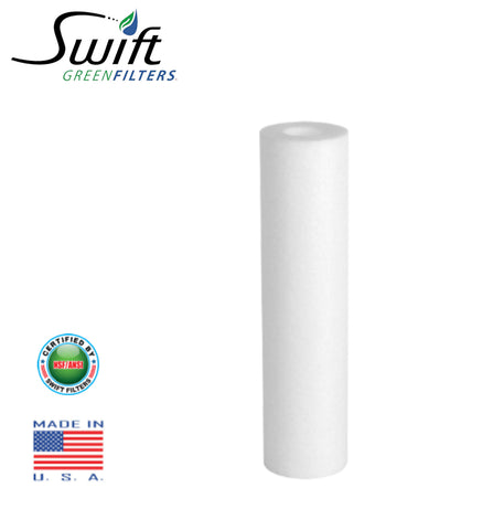 "1 Micron Sediment Water Filter Cartridge for Reverse Osmosis 4.5"" X 20"" by Swift Green Filters"