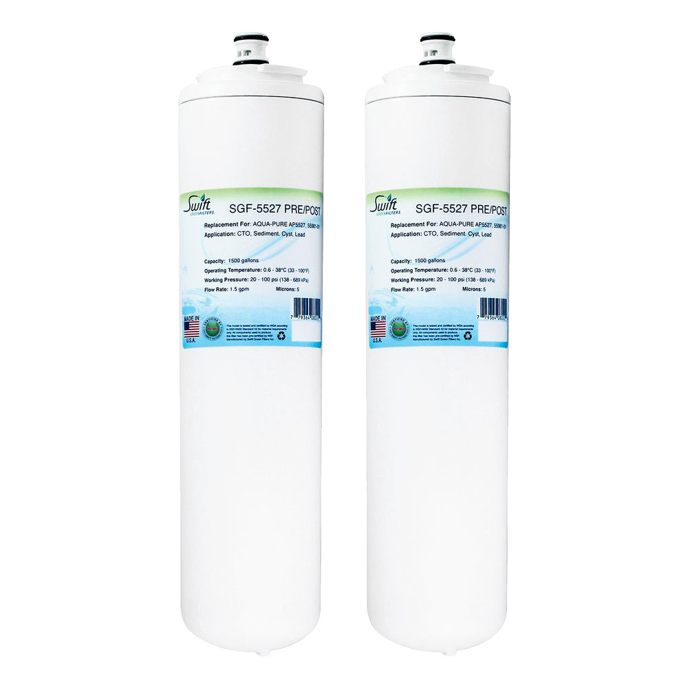 3M Aqua Pure AP5527 Filter Replacement SGF-5527 PRE/POST filter (Set of 2) by Swift Green Filters