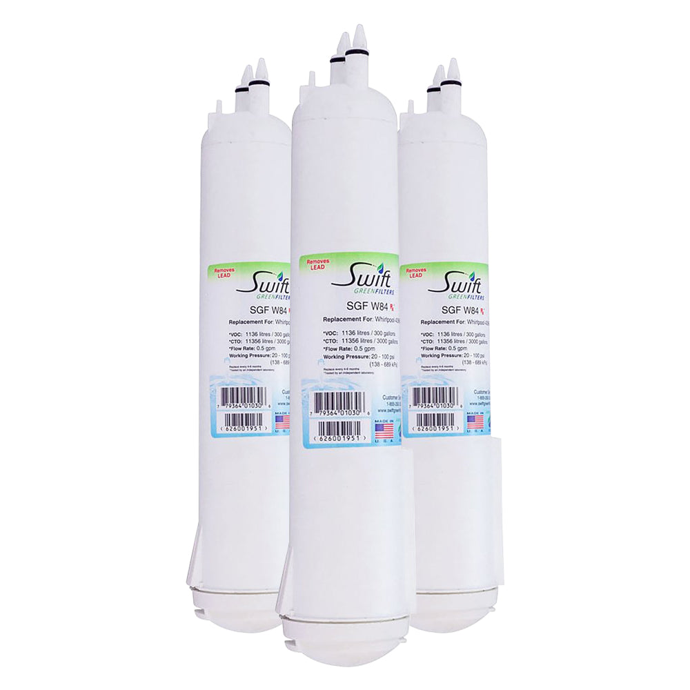 Swift Green SGF-W84 Rx Pharmaceutical Replacement Water Filter For Whirlpool 4396841, W10121145, W10121146, 4396710, 4396841, P2RFWG2,  T2RFWG2, T2WG2L