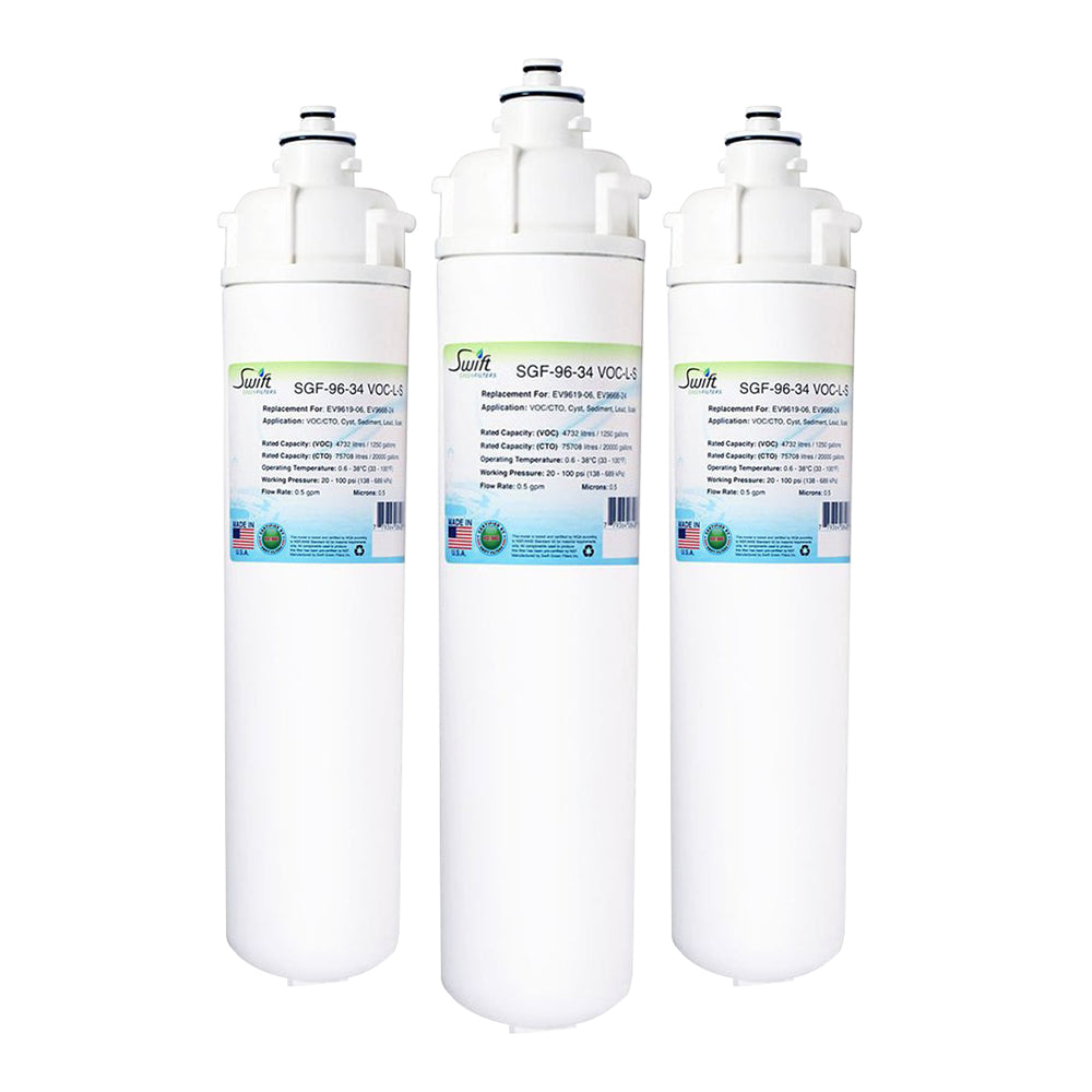 Everpure EV9619-06, EV9668-24 Filter Replacement SGF-96-34 VOC-L-S by Swift Green Filters
