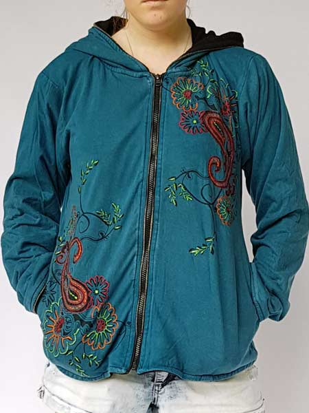 Embroidered Chic Hoodie