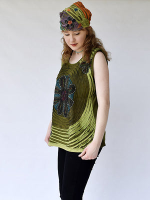 Hippie razor cut top