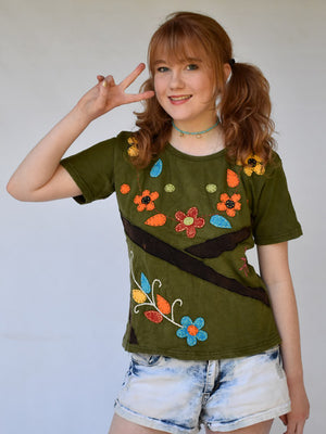 Hippy Flower Top