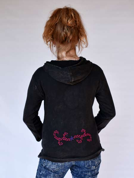 Peace Embroidered Hoodie