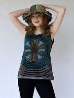 Razor cut hippie top