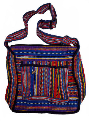 Woven Cotton Messenger Bag
