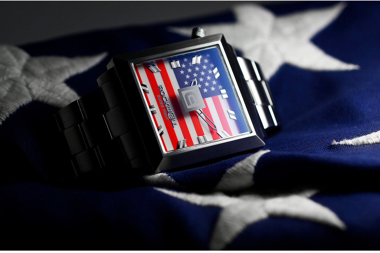 Detail of the Freedom Flag 50mm2 Watch