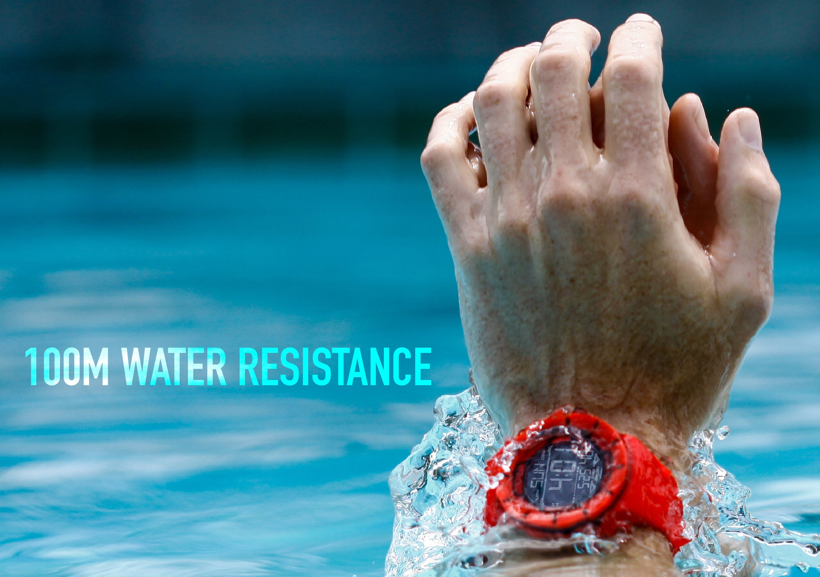 swimmer wearing coliseum watch