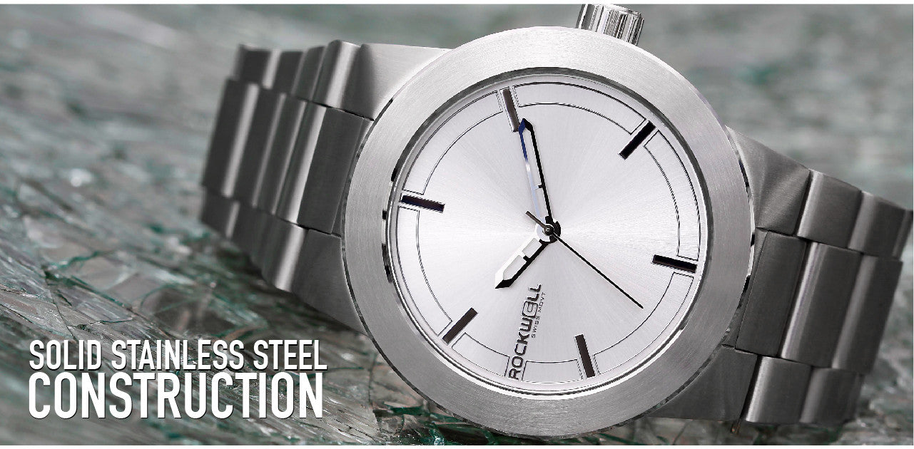 solid stainless steel construction on the maverick watch