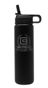 Black Rockwell Warrior Flask