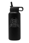 32 oz Phantom Black Rockwell Warrior Flask with Lid Straw