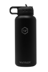 32oz Phantom Black Rockwell Warrior Flask with Lid Straw  Edit alt text