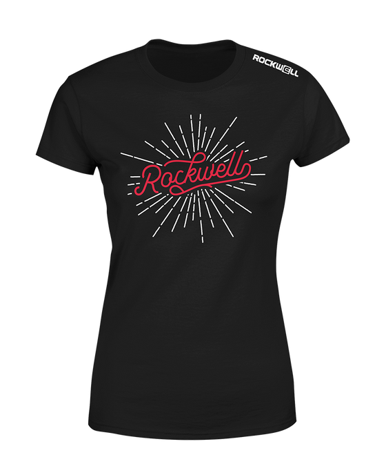 Women's Rockwell Burst T-Shirt - Black