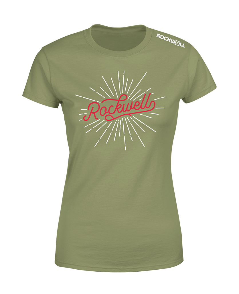 Women's Rockwell Burst T-Shirt - Olive Green