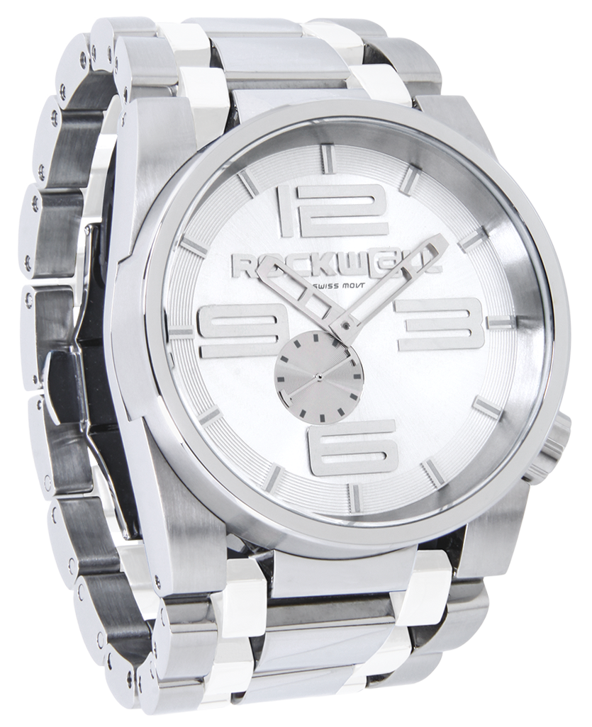 50mm (Silver/White Ceramic - Watch)