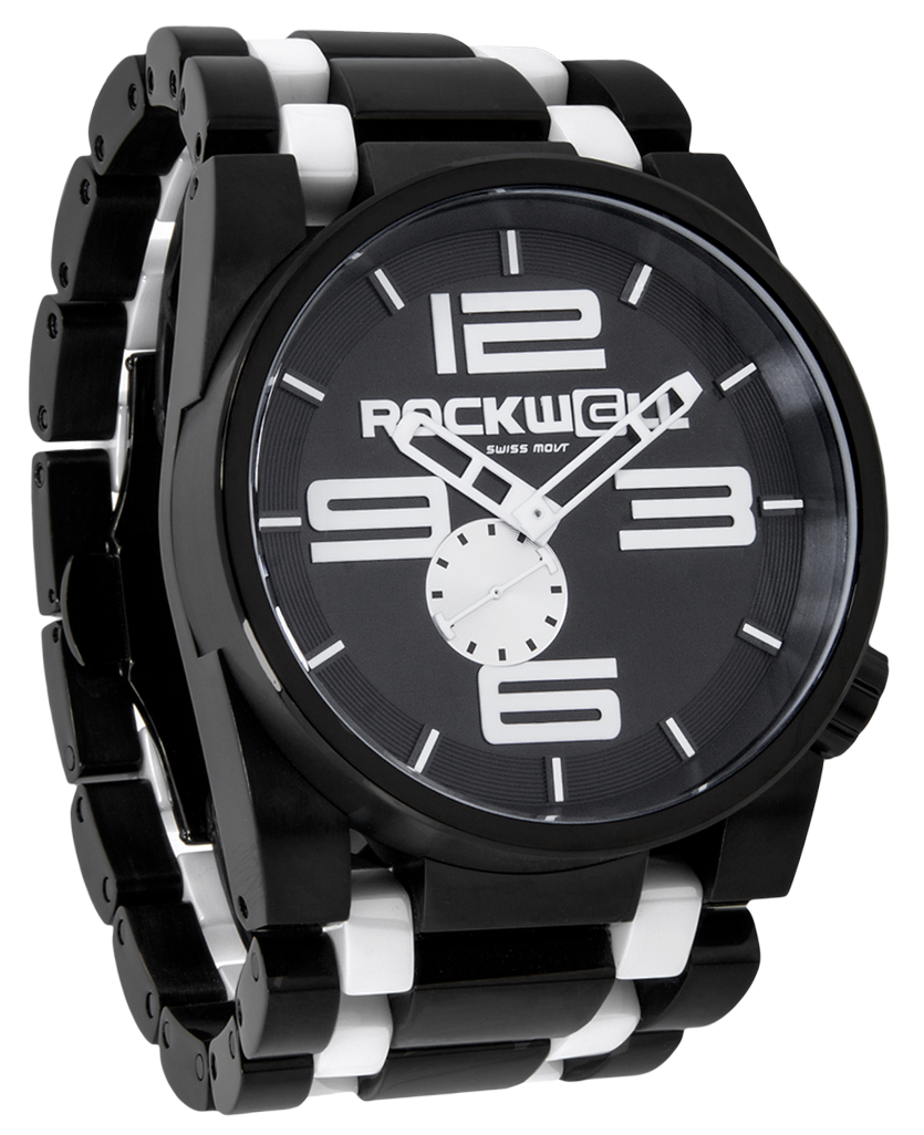 50mm (Black/White Ceramic - Watch)