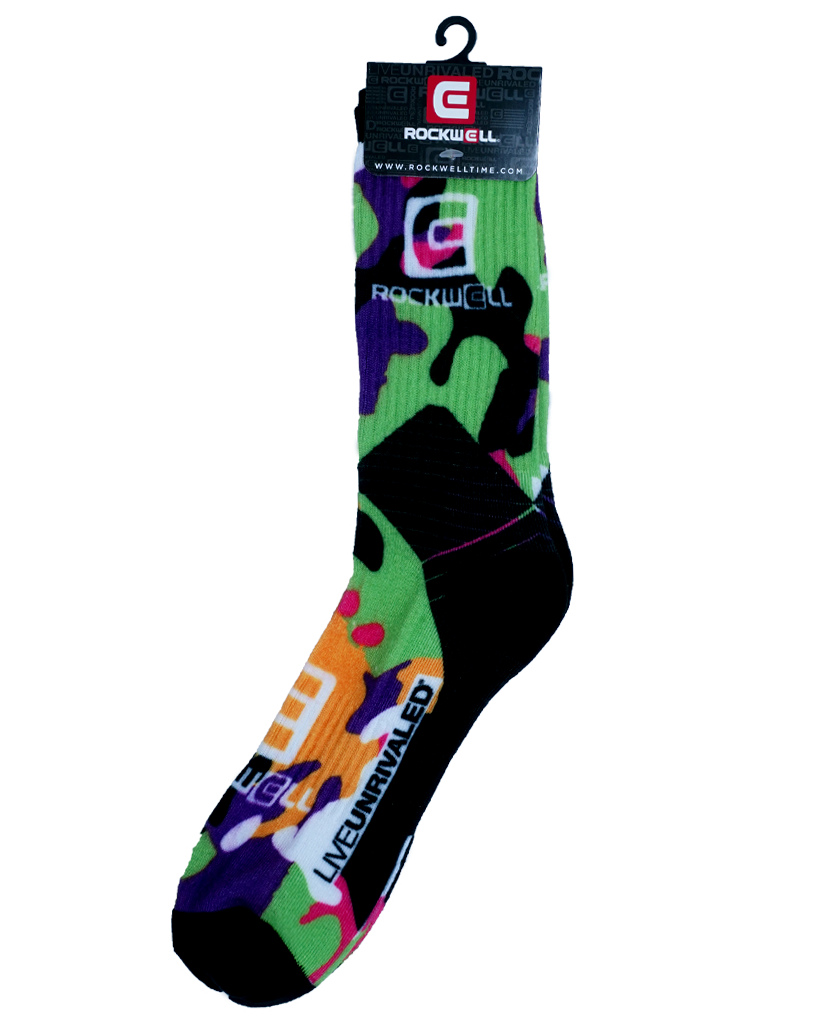 Green Camo Pattern Rockwell Socks