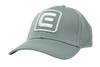 Grey hat with velcro back and White rockwell E.