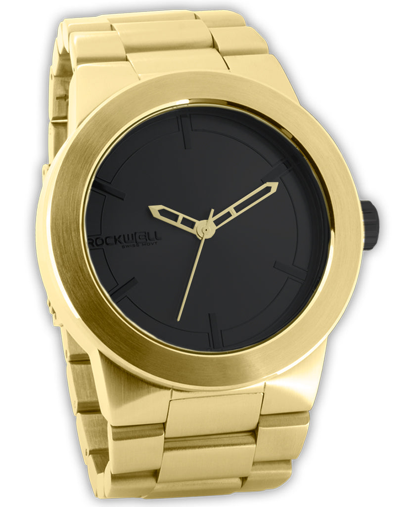 Gold Maverick with Black Dial
