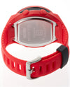 Red silicon Coliseum with Angels logo on band 48mm watch