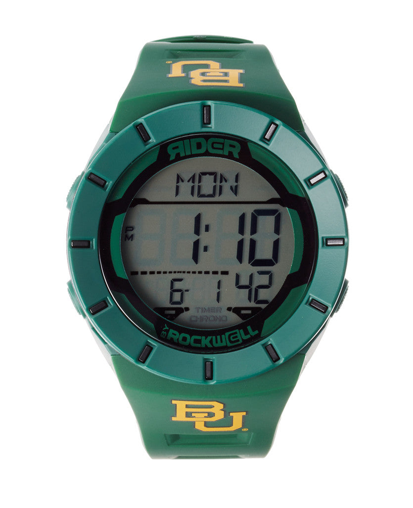 Green Coliseum Watch with Yellow University of Baylor Print