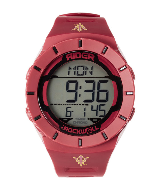 Red and Black Coliseum Watch with Custom Arizona State Bands