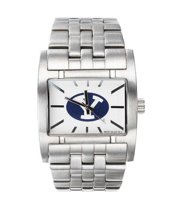 Apostle BYU watch Silver band with BYU print on dial